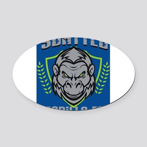 SSFC_gorilla_2[1] Oval Car Magnet